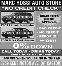 No Credit Check ad - More than 10 years!